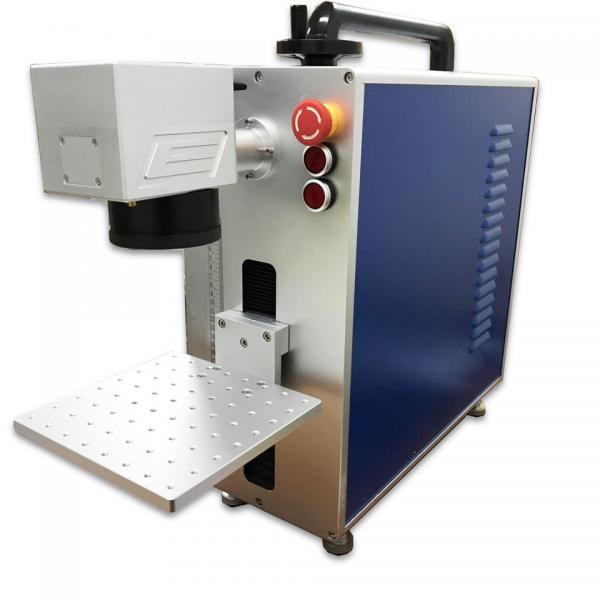 Máquina Laser Fibra Raycus Ruijie Portátil 30W 11x11cm - Gravação de Metal