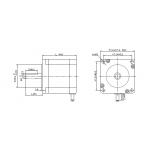 Motor Nema 23 - KDE Kangda - 57-H350B  - X (3 Vias)
