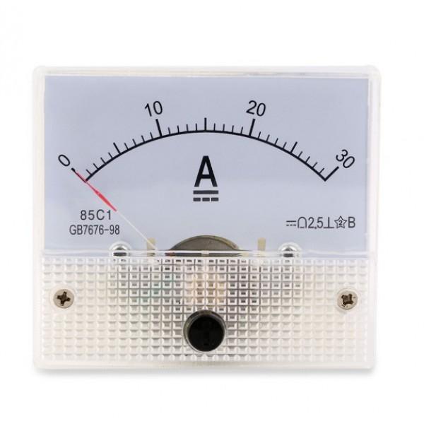 Amperímetro 50mm 30MA