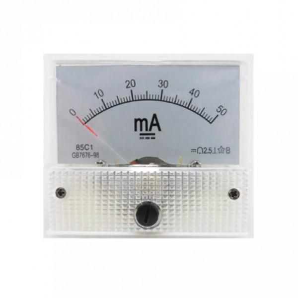 Amperímetro 40mm 50MA